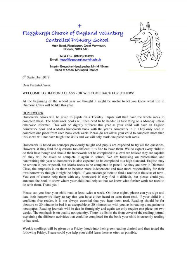 thumbnail of Diamond Class Newsletter Autumn 2018