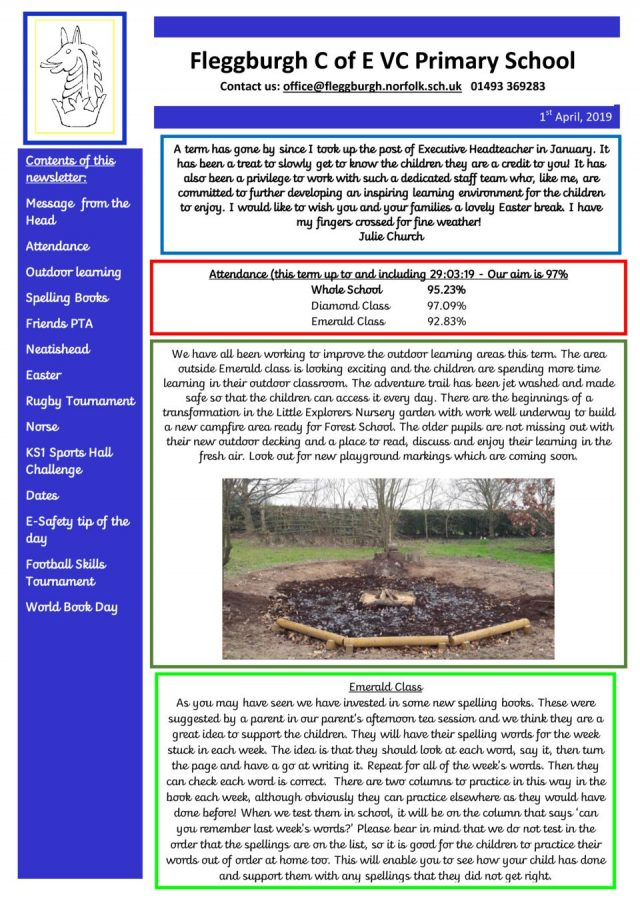thumbnail of Newsletter Easter 2019