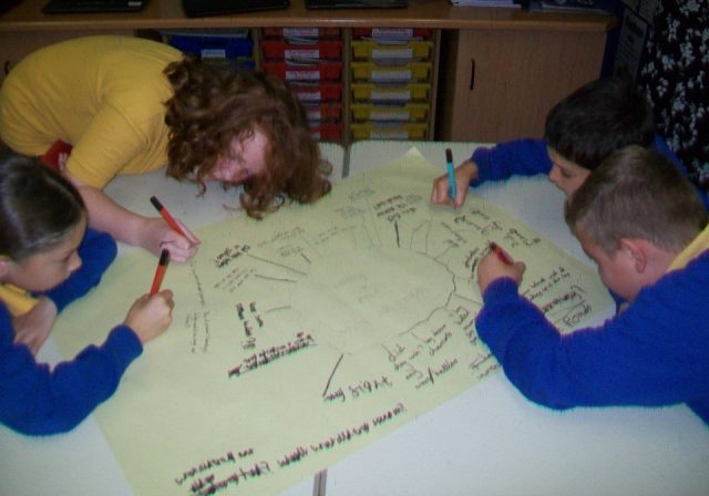 Diamond-Class-brainstorming-what-they-know-about-the-Romans